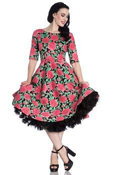 Černé šaty s růžemi Hell Bunny Silvia d4d274968c