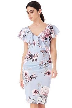 -50% Květované šaty s volány City Goddes Josette 5a98187321