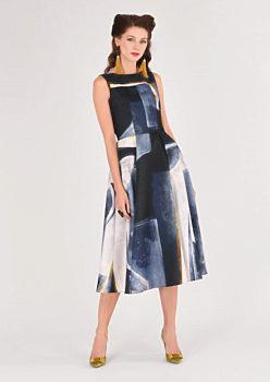 Modro černé šaty se širokou sukní Closet Daphne e76a61e5e2