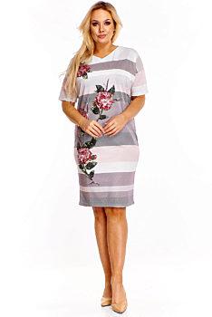 aec7510f8e3f Novinka Pouzdrové šaty s motivem růží La Vian Erika