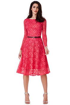 deb4f444755e Růžové krajkové šaty City Goddess Inka