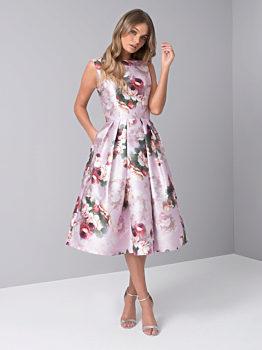 Společenské šaty s růžemi Chi Chi London Karlene 61c0e07a33