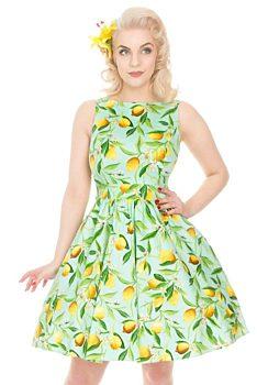 9d6d0e2eba0 Světle zelené šaty s citróny Lady V London Tea