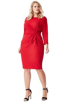 6adf99e89a1 Červené šaty s rukávem City Goddess Christine