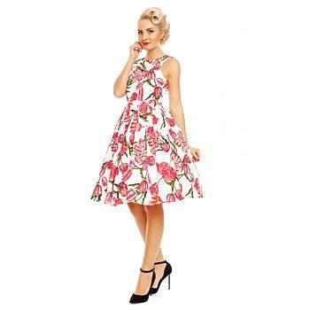 f74526ce2d91 Novinka Bílé šaty s červenými tulipány Dolly and Dotty Annie