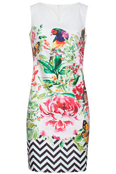 d774a80688f8 -9% Pouzdrové šaty s květy a motýli Smashed Lemon Farisa
