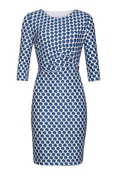 a43271f190d Novinka -11% Bílé šaty s modrými puntíky Smashed Lemon Hortense