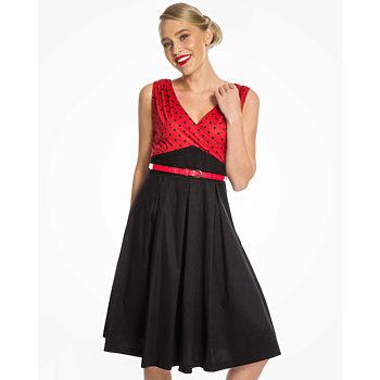 Černo červené šaty Lindy Bop Valerie f9270147c8