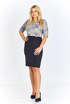 Pouzdrové šaty s černou sukní Beata Majer Addison ad48dcc537