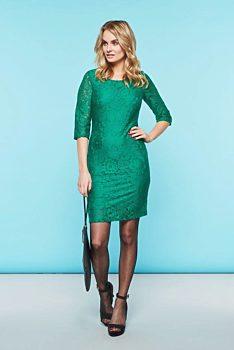 Zelené krajkové pouzdrové šaty Smashed Lemon Marella 08c340af4a
