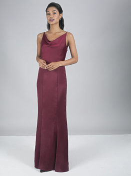Bordó dlouhé šaty na ramínka Chi Chi London Alexandria 8f485c5b98