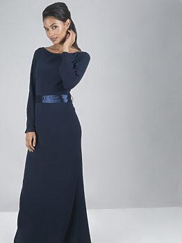 Tmavě modré dlouhé šaty Chi Chi London Valedina 0996f35e87