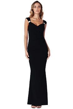 d0883ee97ad -13% Černé dlouhé pouzdrové šaty City Goddess Shania