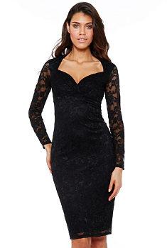 Novinka Černé krajkové šaty City Goddess Nila 1acd811cd6