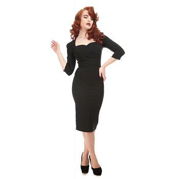-10% Černé pouzdrové šaty Collectif Anita ed29507288