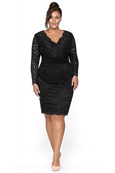 1367361acac0 -14% Černé pouzdrové šaty Kartes Stellina