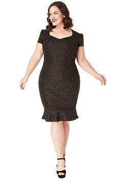 b7aaa5b1de50 -19% Černé pouzdrové šaty se třpytkami City Goddess Camelie