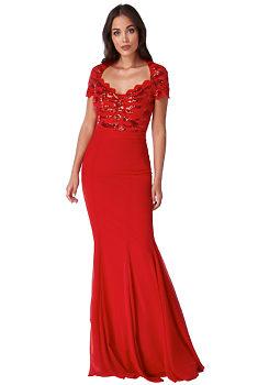 d570c75f9272 -20% Červené společenské šaty City Goddess Blackie