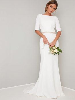 -11% Dlouhé svatební šaty Chi Chi London Demi 806d690728