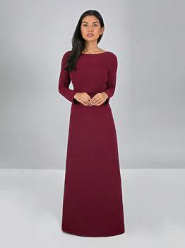 2909a905fcd Bordó dlouhé šaty Chi Chi London Valedina
