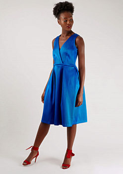 0c60b428ca4f Kobaltově modré šaty s širokou sukní Closet Johanna