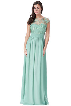 eae46391c60e -25% Mentolově zelené společenské šaty City Goddess Sofia