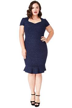 e93a8fa67c4a -19% Modré pouzdrové šaty se třpytkami City Goddess Camelie