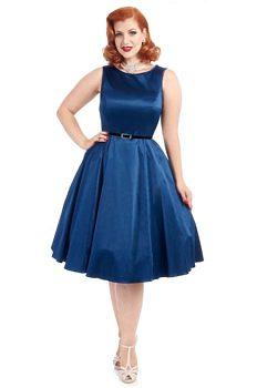 Modré společenské šaty Lady V London Audrey 572498cf76