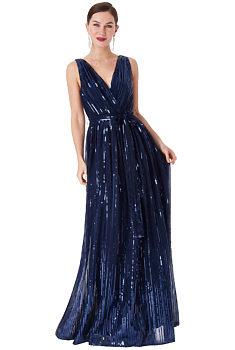 d6fdcc3e5ab Modré společenské šaty s flitry City Goddess Afrodita