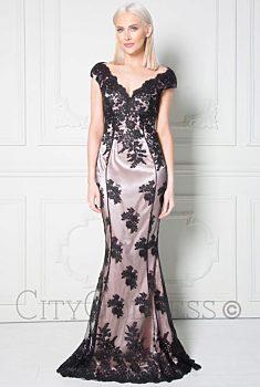ead3635d13d9 -25% Plesové šaty s krajkou City Goddess Adina