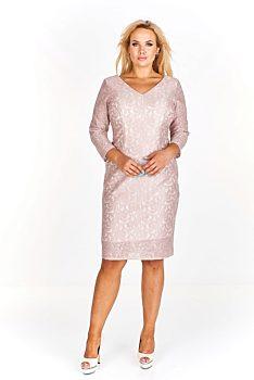 Pouzdrové béžové šaty Exclusive Svea 763bb2b389