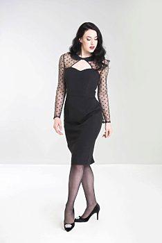 a9a50bc54319 Pouzdrové černé šaty Hell Bunny Voody