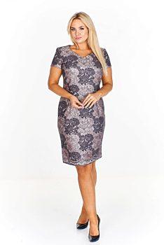 Novinka -16% Pouzdrové šaty s květinovým vzorem Bellezza Christelle 7ef7a10de8
