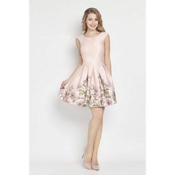 658e3efc9b0 Růžové společenské šaty s květy Betty M Matinee