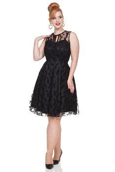 715e83ea3047 Společenské černé šaty Voodoo Vixen Penny