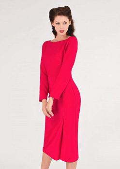 Sytě růžové pouzdrové šaty Closet Norma f0581c9a92