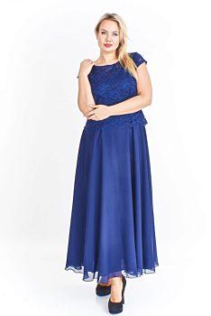 -11% Tmavě modré dlouhé společenské šaty M SZ Kamili ab72df8f136