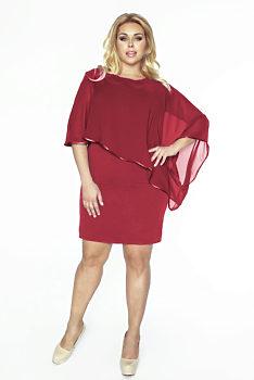 023a7acaad5 Vínové pouzdrové šaty Kartes Renata