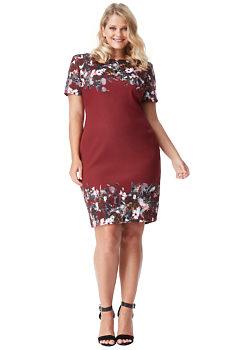 d908e16ebfc -20% Vínové šaty s květinovým vzorem City Goddess Odette