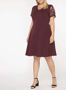 cd92bc2e2f1 Těhotenské bordó šaty Dorothy Perkins Abbie