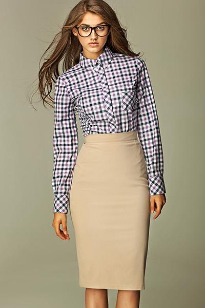 Béžová pouzdrová sukně Nife Malory Nife Retro oblečení 73ea4449ba